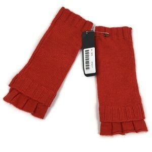 J. Crew Wool Cashmere Blend Fingerless Gloves Red
